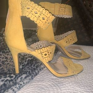 Yellow Jessica Simpson heels